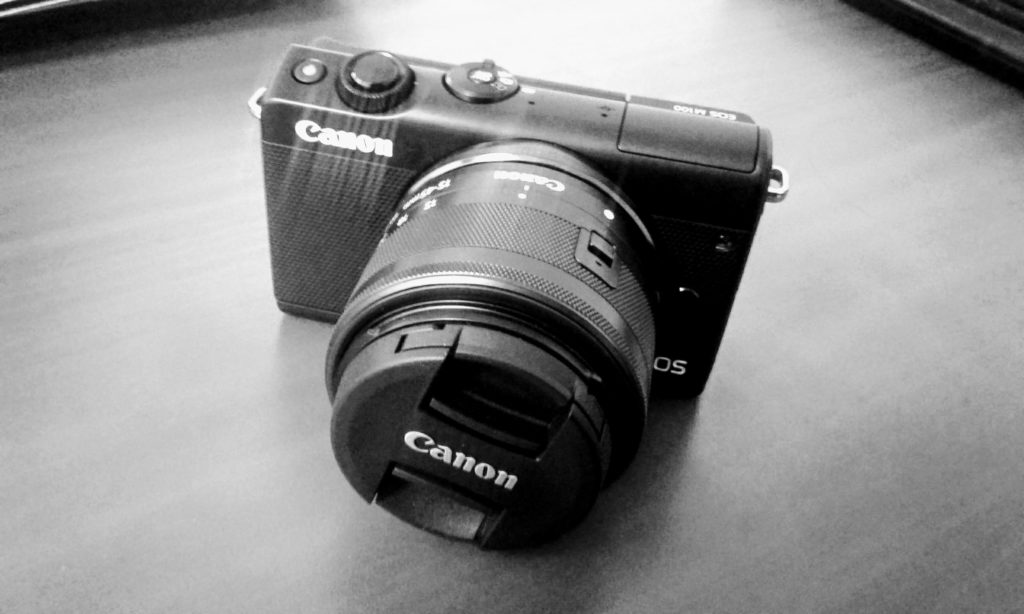 Photo of my Canon M100 mirrorless camera.